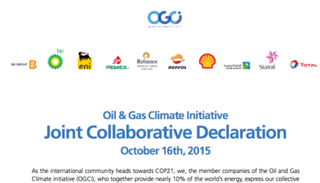 oil and gas climate declaration