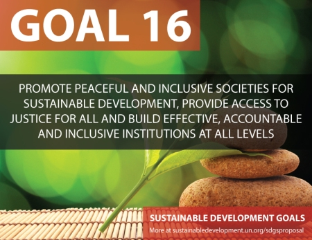 sixteen sustainable development goals